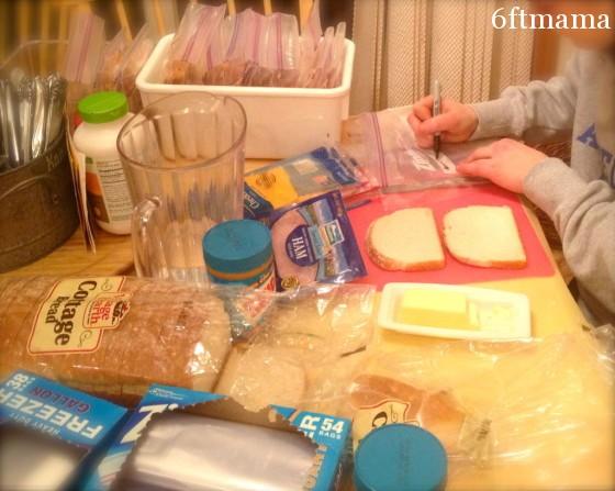 sandwich prep task