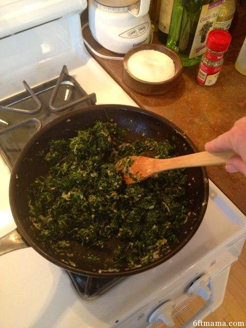 Cooking down greens