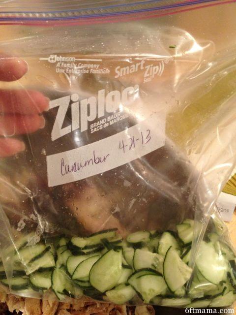 processed cucumber