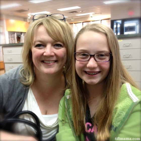 mom and emma with glasses