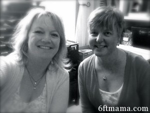 Terri Chaffer with me in the studio, June 6, 2013