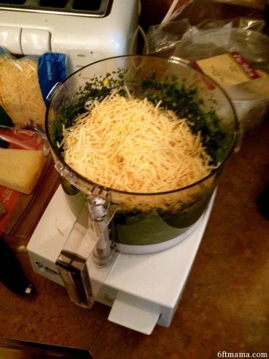 Adding Kraft Parmesan