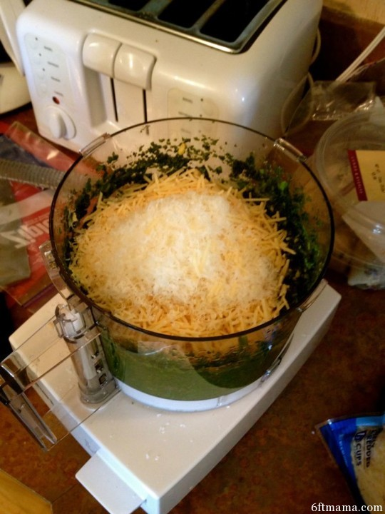 Processed Basil and Parm