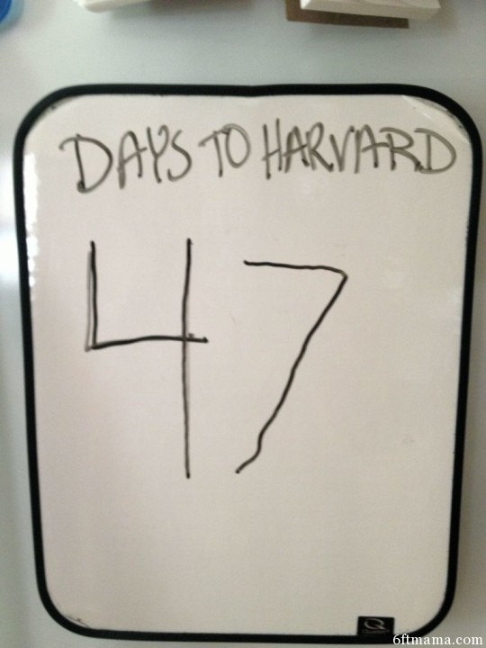 Days to Harvard