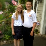 Emma and Will First Day of School at Parnassus Preparatory 2013 6ftmama.com