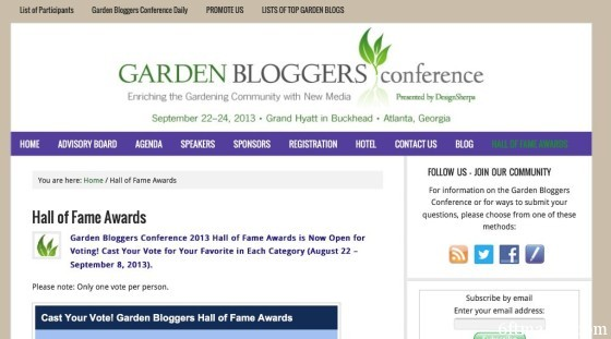 Garden Bloggers Hall of Fame Awards 2013 - Vote Now!