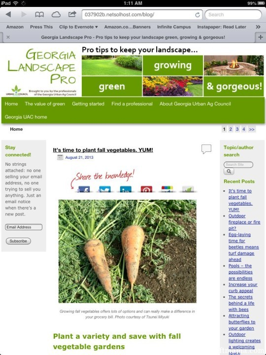 The Best Garden Blogger 2013 Georgia Landscape Pro