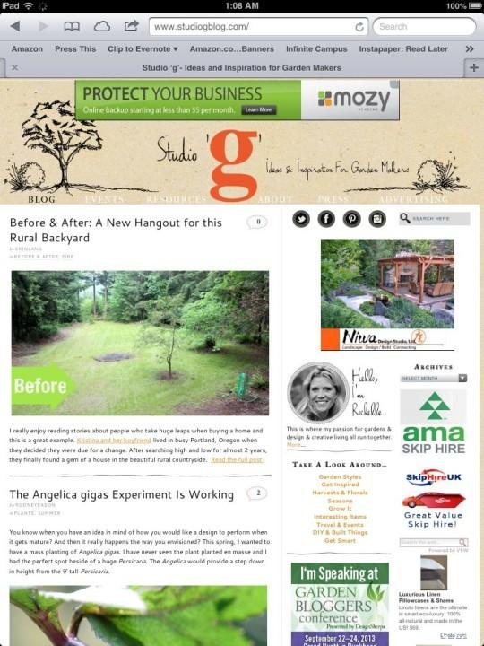The Best Garden Bloggers 2013 Studio g