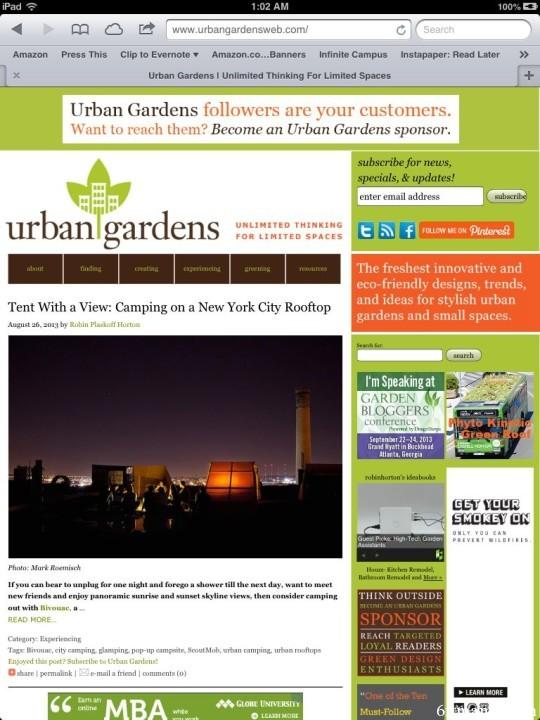 The Best Garden Bloggers 2013 Urban Gardens