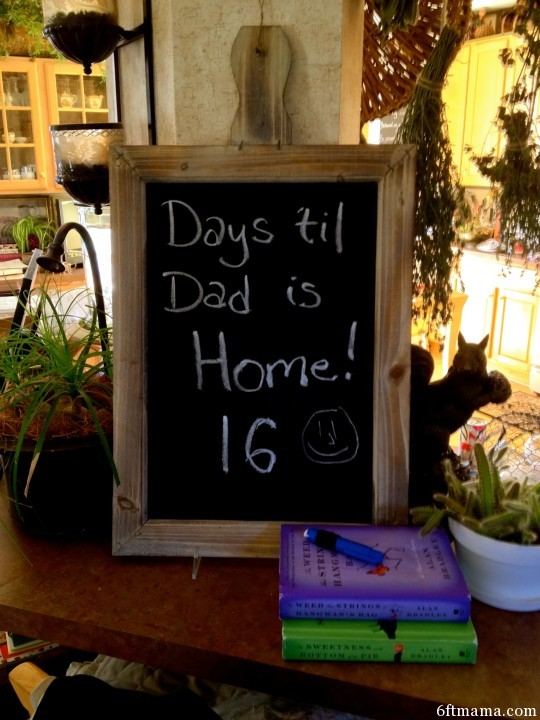 Days til dad is home