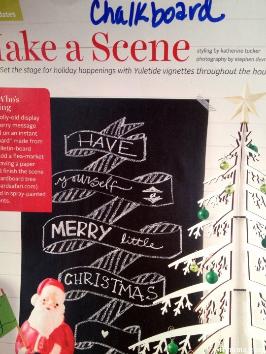 Christmas Chalkboard 6ftmama.com