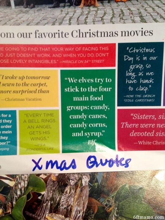 Christmas Quotes 6ftmama.com