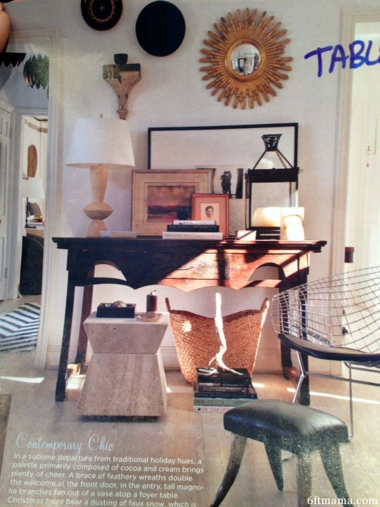Entry Table Staging 6ftmama.com