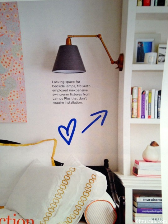 Swing Arm Lamp 6ftmama.com