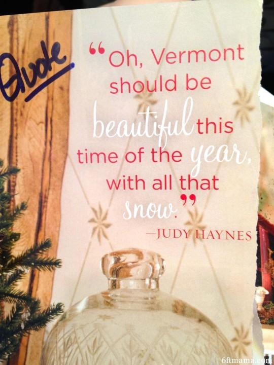 Vermont Christmas Quote 6ftmama.com