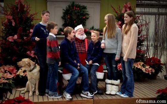 Grandkids outtake Tonkadale Santa 6ftmama.com