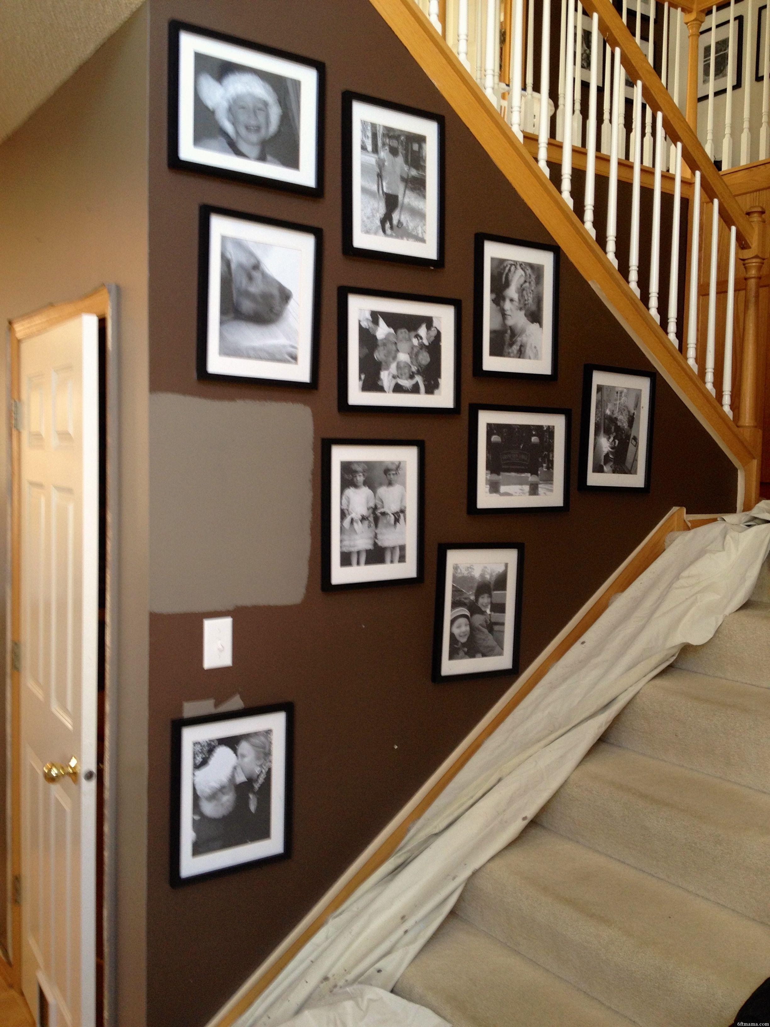 January Milestones New Paint on Stairs 6ftmama.com