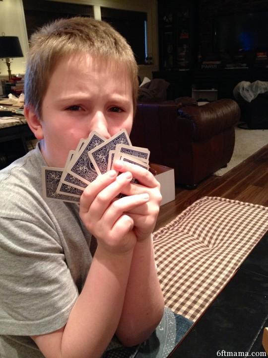 PJ sevens card game 6ftmama.com
