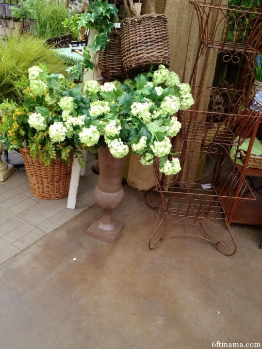 hydrangea urn 6ftmama.com