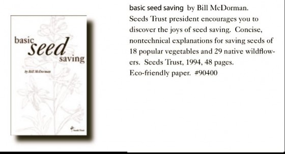 Basic Seed Saving by Bill McDorman Seeds Trust 6ftmama.com