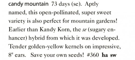 Candy Mountain Corn Seeds Trust 6