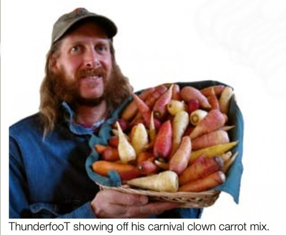Thunderfoot with Carnival Clown Carrot Mix 6ftmama.com