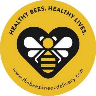 beez kneez logo healthy bees healthy lives