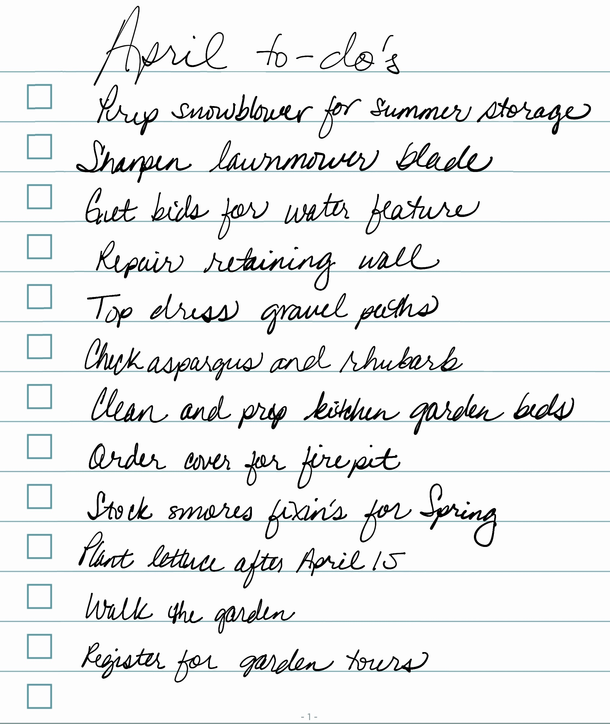 6ftmama.com April 2016 to-do list