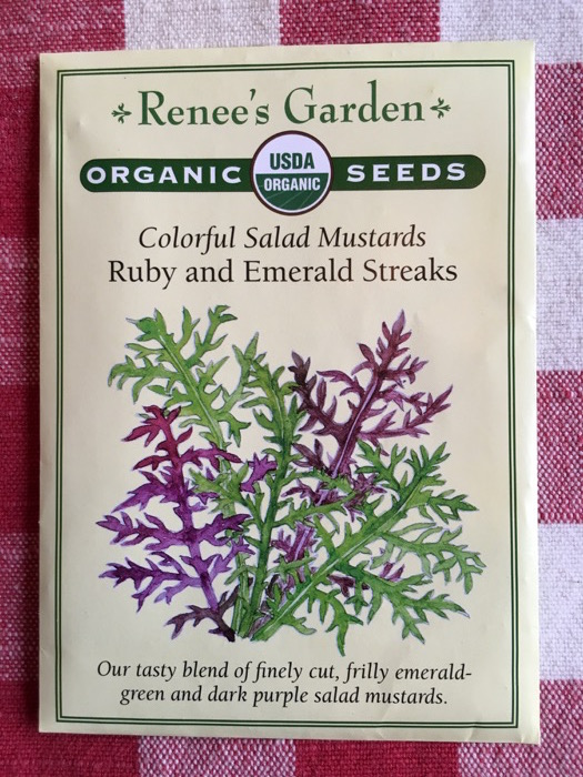 Ruby and Emerald Streaks Colorful Salad Mustards Renee's Garden