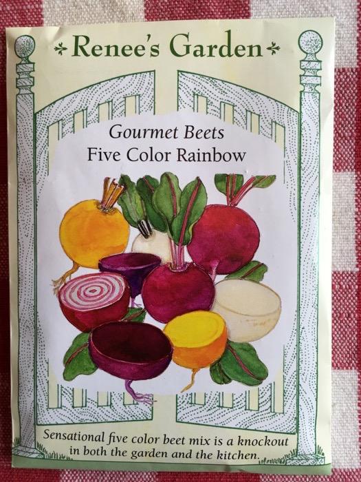 Five Color Rainbow Gourmet Beets Renee's Garden