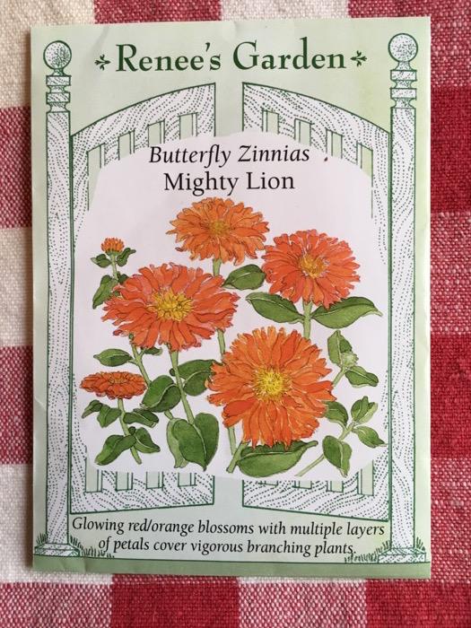 Mighty Lion Butterfly Zinnias Renee's Garden