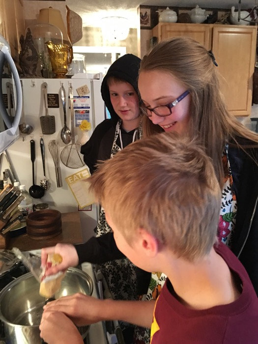 Pesto Certified Emma PJ John in the kitchen
