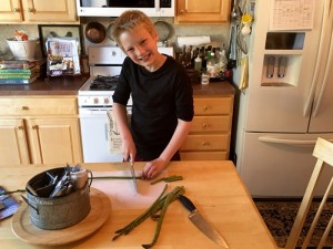 Oven-Roasted Asparagus John prep cook 6ftmama blog