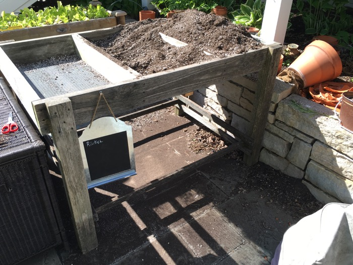 The Francy Raised Bed Garden Planter Removing Potting Soil 6ftmama blog