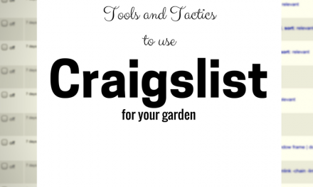 SG554: Tools and Tactics to use Craigslist for your Garden